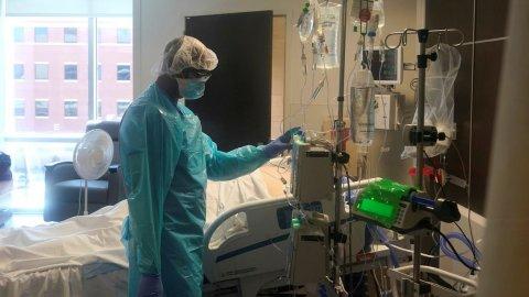 Covid case thah gina ve America in medical oxygen husvanee!