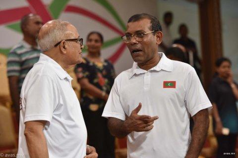 Maumoon fadhain Nasheed ah ves Party gellenee