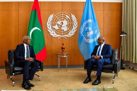 Shahid ah  Solih aai MDP ge thaureef! Nasheed hanu?